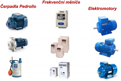 Prodej čerpadel,frekvenčních měničů a elektromotorů