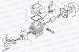 PQ m 60 Monoblokové jednostupňové čerpadlo v litinovém provedení, horizontální čerpadlo, pro čistou vodu