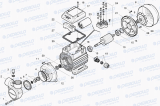 PQ m 60 Monoblokové jednostupňové čerpadlo v litinovém provedení, horizontální čerpadlo, pro čistou vodu Pedrollo
