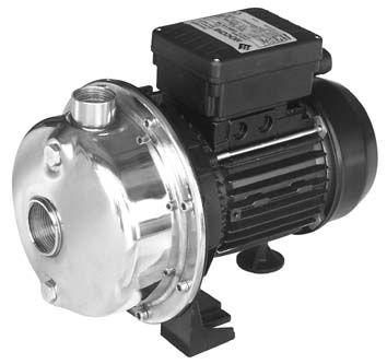 Celonerezové provedení čerpadel SSXC, maximální teplota čerpané kapaliny 90°C.