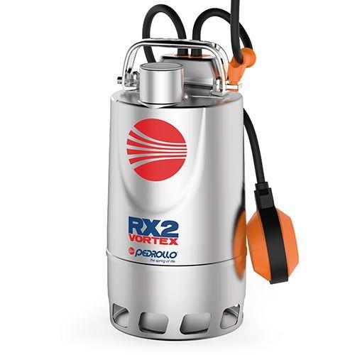 RX - VORTEX čerpadlo pro čerpání zněčištěné vody - nerezové provedení Pedrollo